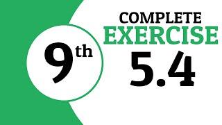 Exercise 5.4   9th Class Math   Waqas Nasir