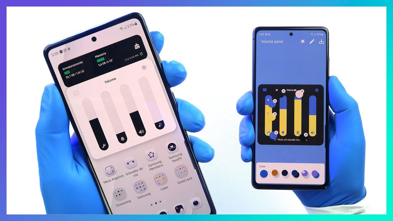 🔵 Agora é possível mudar as cores do PAINEL DE VOLUME em seu celular Samsung | Theme Park Good Lock