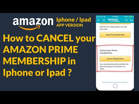 How To CANCEL Your AMAZON PRIME MEMBERSHIP In Iphone Or Ipad ?