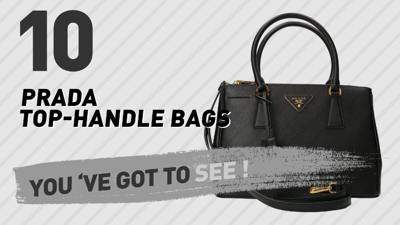 cc4f29200b3b Prada Top-Handle Bags // New & Popular 2017 - YouTube