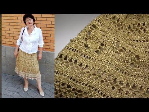 Вязание крючком юбки для женщин со схемами и описанием видео