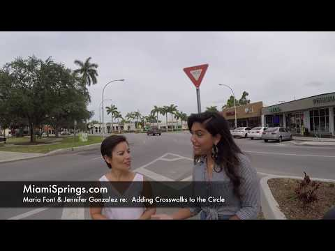 Circle Crosswalks in Miami Springs