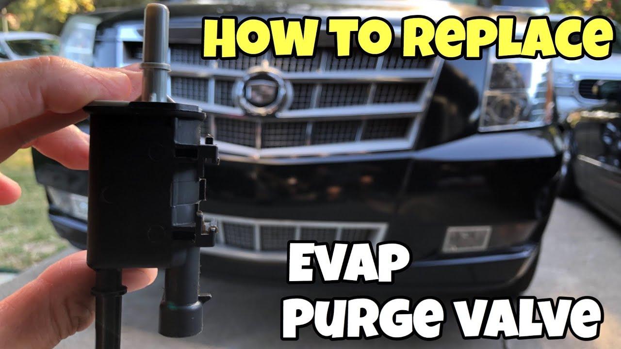 How To Replace Evap Purge Valve Solenoid 07 14 Escalade P0496 Youtube