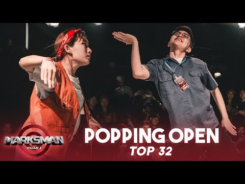 Pop Pop Qian (MY) Vs Yoshua (INA) | Popping Open Category Top32 | Marksman Vol. 3 | RPProds