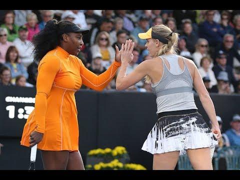 Serena/Wozniacki vs. Hibino/Ninomiya | 2020 Doubles ASB Classic First Round | WTA Highlights