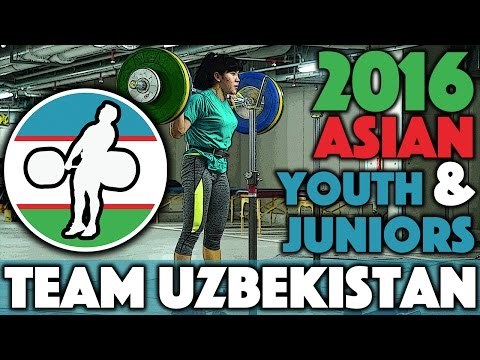 Team Uzbekistan - Snatch, Clean & Jerks, and Squats @ 2016 Asian Youth/Juniors (Nov 10th)