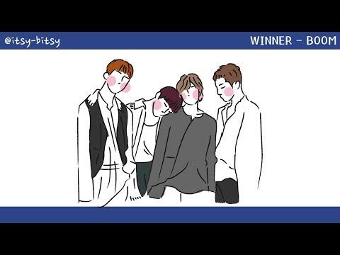 [中字/手繪] WINNER(위너) - BOOM (lyrics Video)