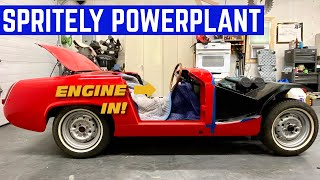 STICKING The ENGINE In An Austin Healey Sprite In MINUTES