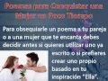 Poemas para Conquistar una Mujer www.JuegosDeSeduccion.com