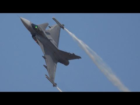 AeroIndia 2017 Swedish Air Force JAS-39C Gripen