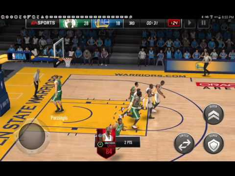 Nba Live Mobile Exposing The Warriors ( Durant Only Scores 2 Points )