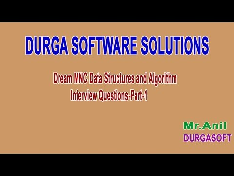 Dream MNC DS and Algorithm Interview Questions Part 1
