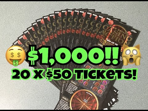 ★★$50 SCRATCH OFF TICKET BOOK!★★ 20X $50 Casino Action Texas