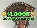 $50.00 High Roller Casino Action $7,500,000 Scratch Off ...