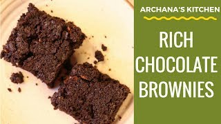 Rich Chocolate Brownie Recipe (eggless) By Archana's Kitchen