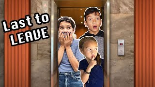 LAST TO LEAVE the ELEVATOR!! Last to get OFF wins $$$!
