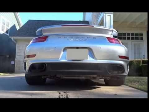 porsche 911 turbo exhaust 991 with fvd sport exhaust