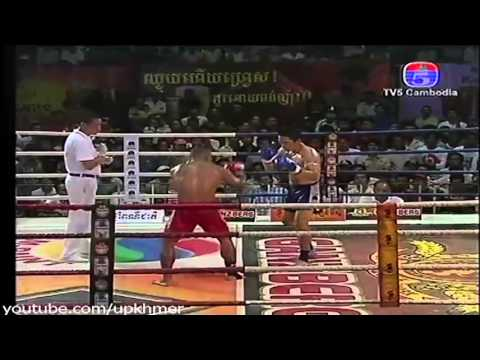 International Khmer Boxing on TV5 Thorn Saray  kh VS Pravit  th]