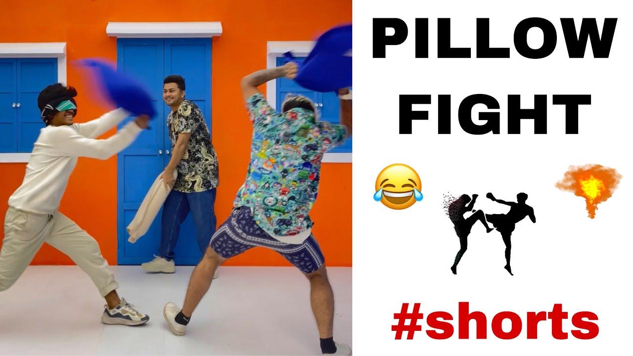 PILLOW FIGHT 😂 #shorts