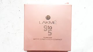 Lakme 9 to 5 Flawless Matte Complexion Compact Best Compact for Daily use Hindi