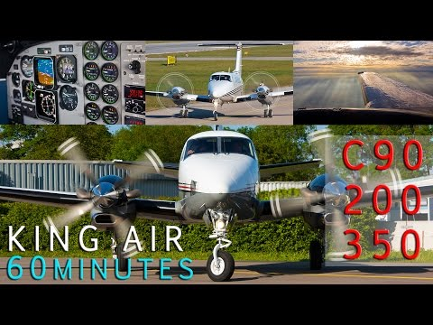 Beechcraft King Air 1 hour Compilation Full HD