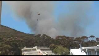 Signal Hill Fire in Cape Town