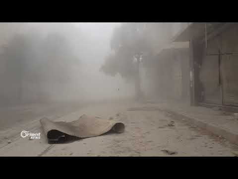 كاميرا أورينت ترصد لحظة قصف مدينة سقبا بالغوطة الشرقية