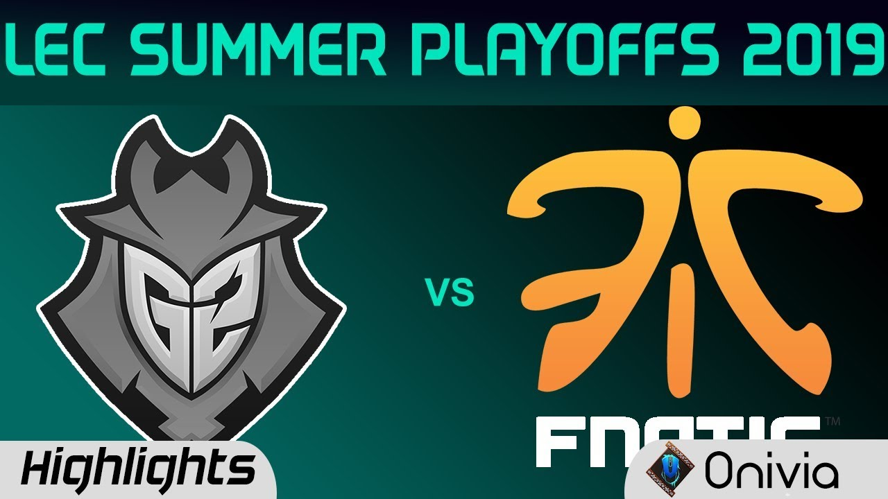 G2 vs FNC Highlights Game 4 LEC Summer 2019 Playoffs G2 Esports vs Fnatic  LEC Highlights By Onivia