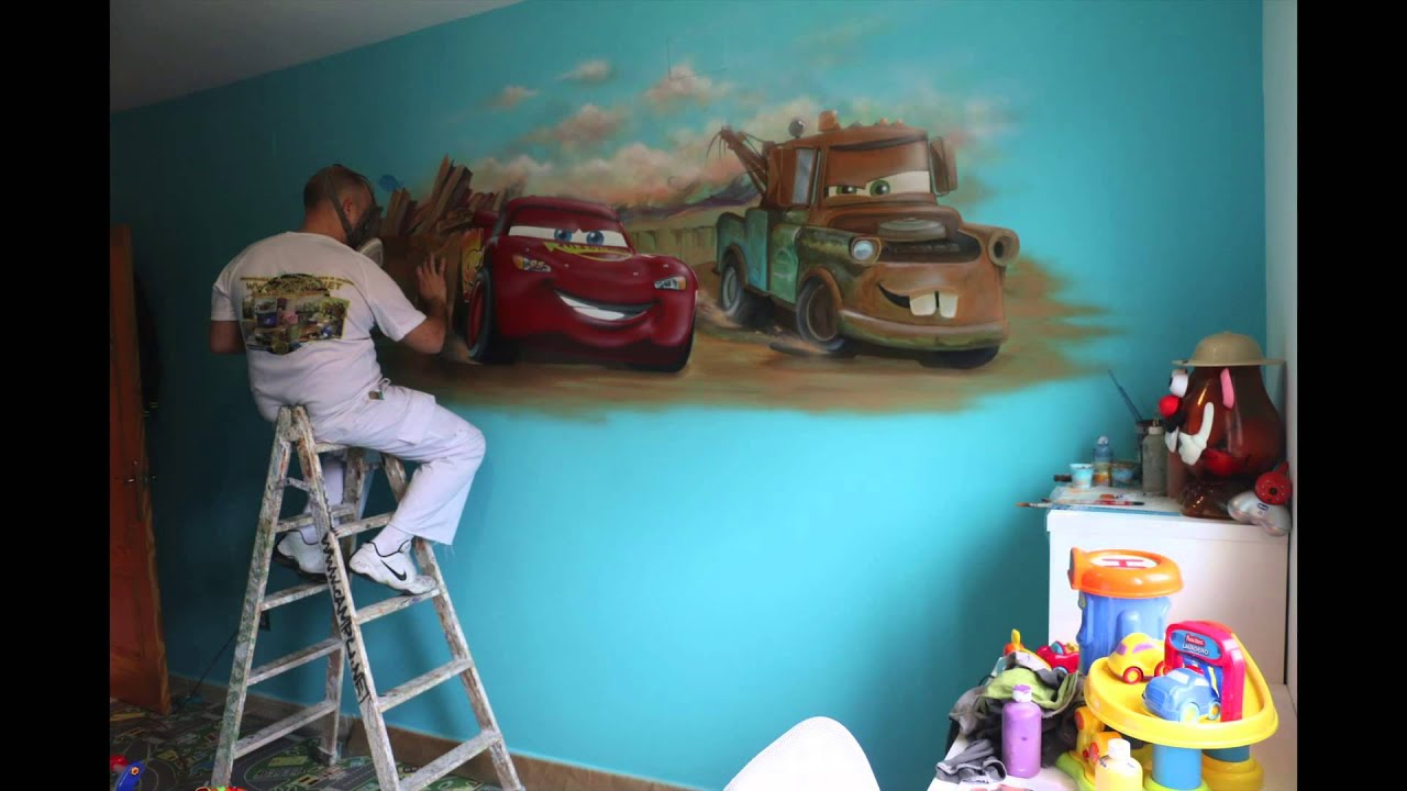Time lapse mural cars youtube for Como pintar un mural en la pared