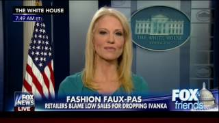 Fox and Friends Kellyanne Conway commercial for Ivanka Trump(Kellyanne Conway encourages Fox News viewers to buy Ivanka Trump's clothing and appears to violate federal law., 2017-02-09T14:53:46.000Z)