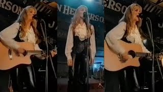 Carlene Carter in Leather Trousers | CleverTrevor101