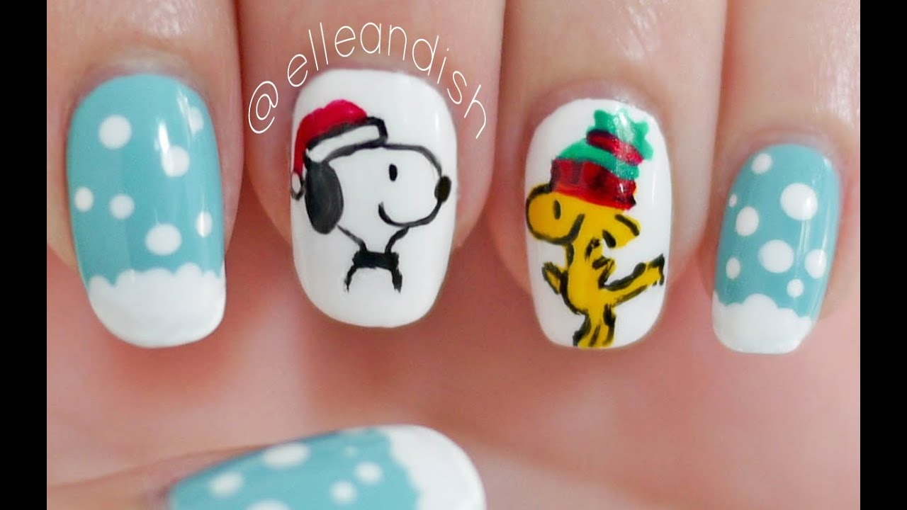 Peanuts snoopy woodstock christmas nails youtube prinsesfo Gallery
