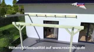 3d aufbauanleitung terrassendach 2 unterkonstruktion. Black Bedroom Furniture Sets. Home Design Ideas