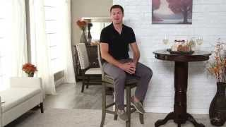 Belham Living Mason Swivel Leather Bar Stool - Grey - Product Review Video