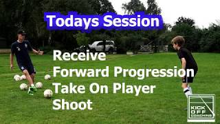 1 on 1 Football Training Video - passing and shooting drill