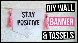 Cute Diy Wall Hanging Banner   How To Make Tassels