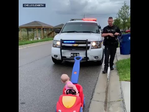 Moran - video shows police officer dad 'pulling over' 10-month-old baby