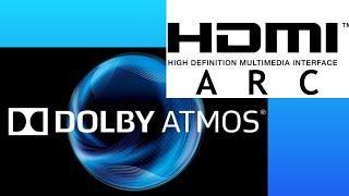 DOLBY ATMOS via ARC. TV to SOUNDBAR 2018 and 2019 LG, SONY and SAMSUNG tested