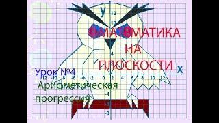 МАТЕМАТИКА НА ПЛОСКОСТИ. Урок №4 Арифметическая прогрессия