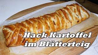 Hack Kartoffel Blätterteigtaschen/gefüllter Blätterteig/Blätterteig Rezepte