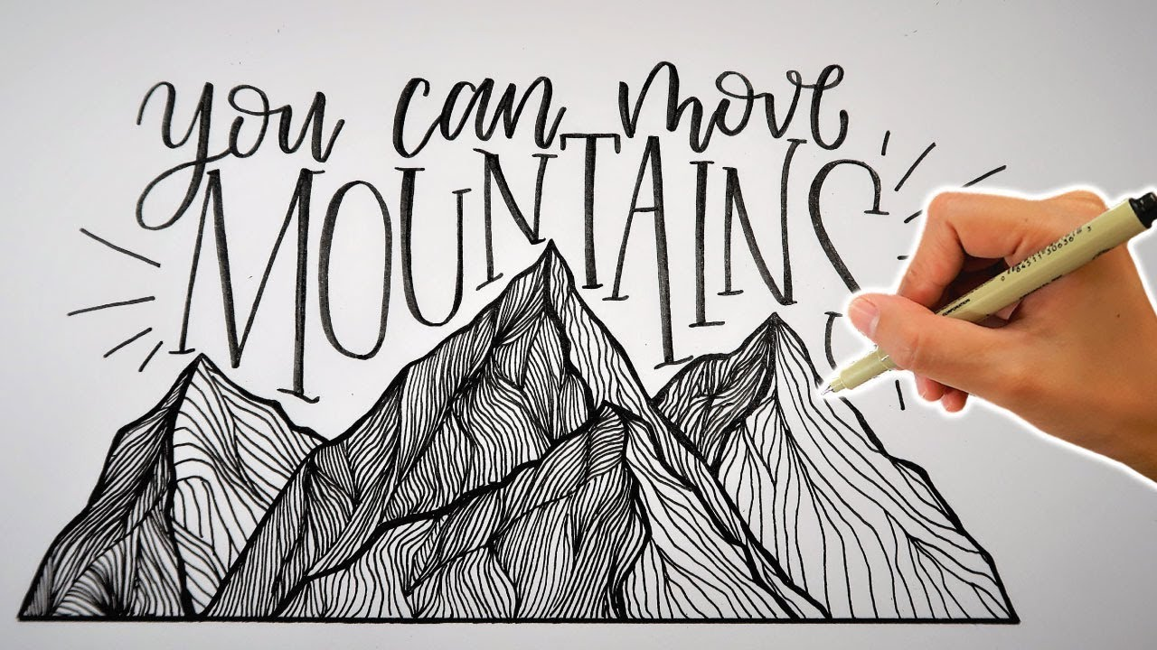 Mountain Drawing | YOU CAN MOVE MOUNTAINS | Nursery Art ...