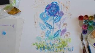 «Уроки рисования». Монотипия (23.10.2015)