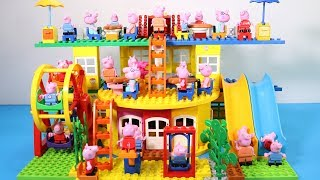 Peppa Pig Lego House Toys For Kids - Lego House With Water Slide Creations Toys #8