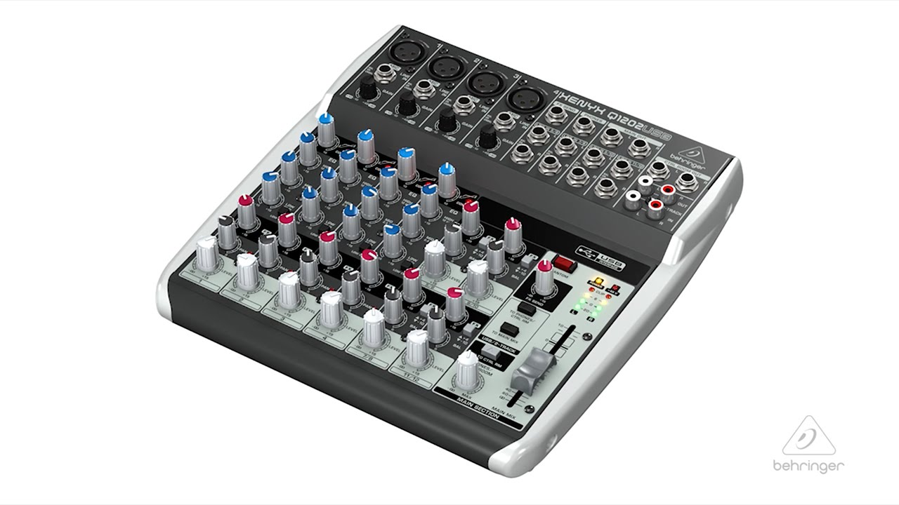 xenyx q1202usb small format mixer usb audio interface youtube. Black Bedroom Furniture Sets. Home Design Ideas