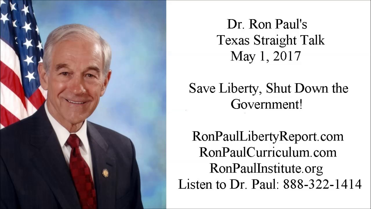 Save Liberty, Shut Down the Government