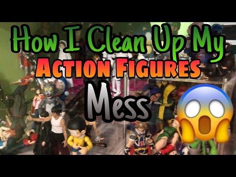 HOW TO Clean Up My Action Figures Collectibles MESS!