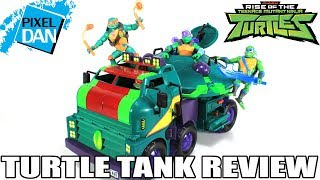 Turtle Tank Rise of the TMNT Ninja Turtles Vehicle Video Review