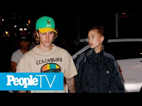Justin Bieber And Hailey Baldwin Seen At New York Courthouse's Marriage Bureau   PeopleTV