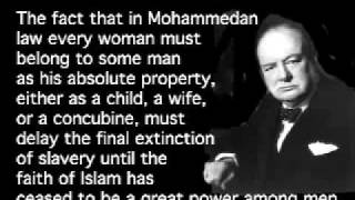 Winston Churchill was against Islam, Marxism and National Socialism