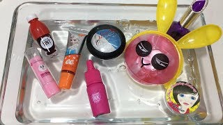 Mixing Makeup into Clear Slime - Satisfying Slime Videos #10 !! Tom Slime